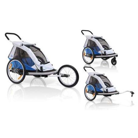 XLC Fietskar Mono 1  Zilver/Blauw Powered by Croozer