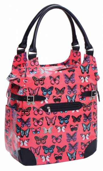 Willex Shopper Fuchsia Butterfly 16L - Fuchsia