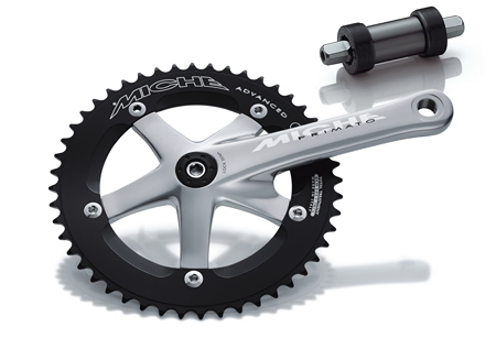 Miche Crankstel Pista Advanced 48T 1/8 165mm Zilver 1910A