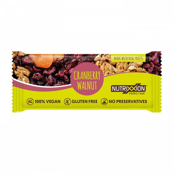 Nutrixxion Energiereep 40g Cranberry/Walnoot