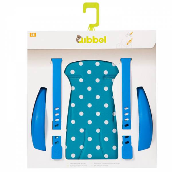 Qibbel Stylingset Achterzitje Luxe Polka Dot Blauw