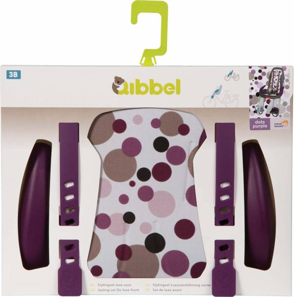 Qibbel Stylingset luxe Dots Paars  t.b.v. Voorzitje