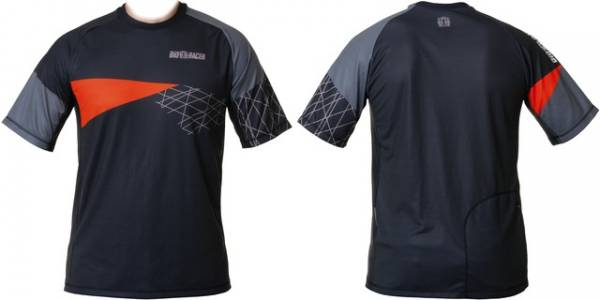 BioRacer Shirt KM All Mountain Antraciet/Oranje - Maat M