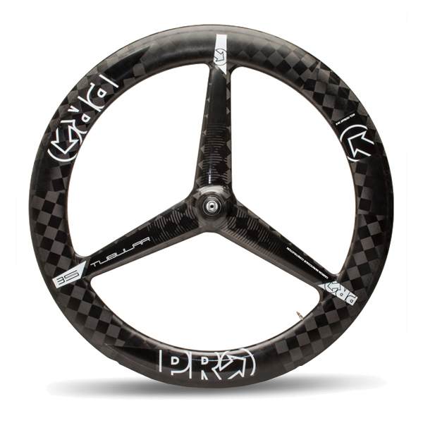 PRO Voorwiel 3-Spoke Tubular Carbon Dura-Ace - Zwart