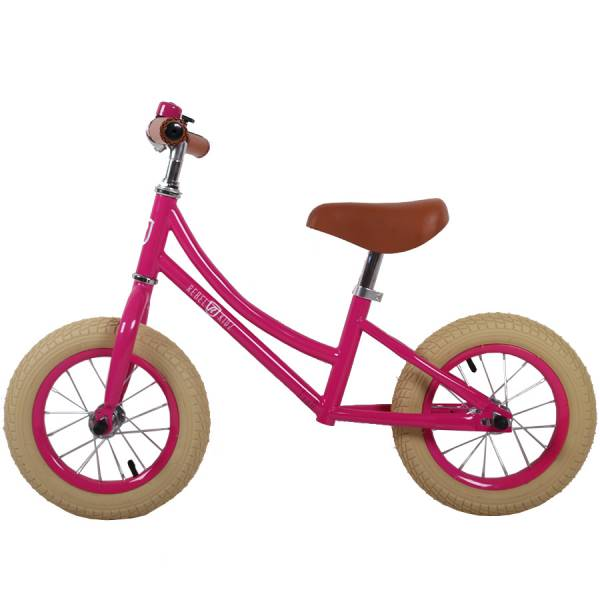 Rebel Kids Loopfiets Classic 12 Inch Roze
