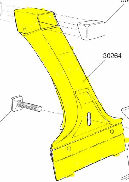 Thule Spare Part 30264 - tbv. Foot Pack 952/956