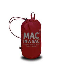 Mac in a Sac Regenjas Lava Red - Maat L