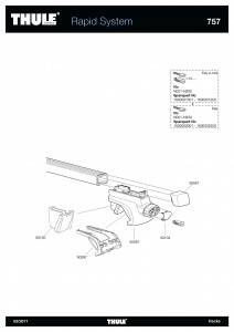Thule Voet 50091 tbv. Rapid System 757