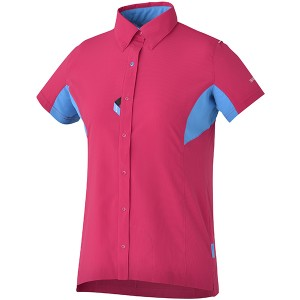 Shimano Dames Button Up Shirt Rood - Maat XXL
