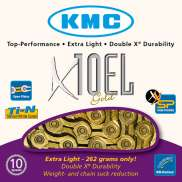 KMC Fietsketting 10 Speed 11/128 Goud Extra Light