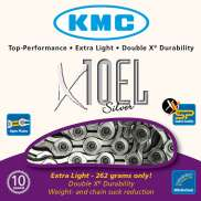 KMC Fietsketting 10 Speed 11/128 Zilver Extra Light