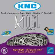 KMC Fietsketting 10 Speed 11/128 Zilver Superlight