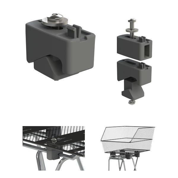 basil cento fahrradkorb f r hinten wsl system schwarz. Black Bedroom Furniture Sets. Home Design Ideas