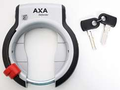 AXA Frame Lock Defender With Fender Mounting Silver/Black