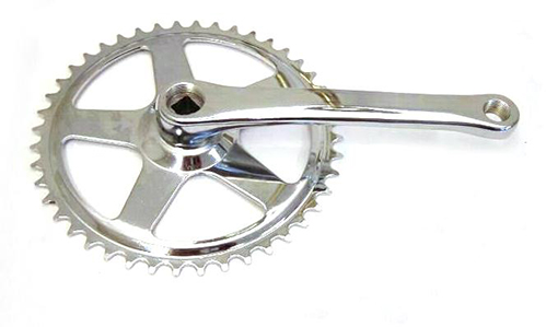 Batavus Crankset 44 Tooth Cotterless Chrome