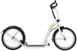 Bike 2 Go Kick Scooter City Roller 20 Inch Mono-Frame White
