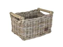 Fast Rider Midi Bamboo Bicycle Basket - Natural