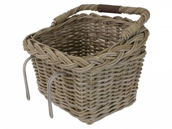 FastRider Rattan Bicycle Basket Rectangular - Natural