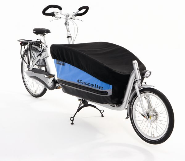 Gazelle Slipcover Cabby Cargo Bicycle - Black