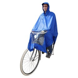 Hooodie Poncho One-Size-Fits-All Blue