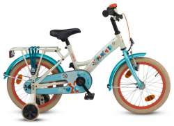 Loekie X-Plorer 16 Inch Girls Bicycle Pearl White