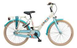 Loekie X-Plorer 22 Inch Girls Bicycle Pearl White