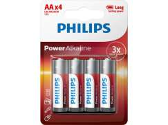 Phillips Penlite Batteries LR6 (AA) Powerlife (4)