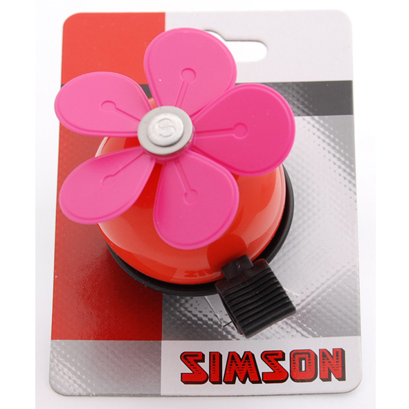 Simson Bicycle Bell Flower - Red/Pink
