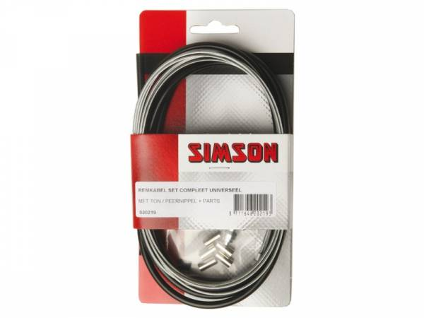 Simson Brake Cable Set Universal Complete Black
