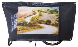 VK Bicycle Cover With Print 110x210 Black