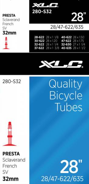 Xlc Bicycle Inner Tube 28 X 1 3/8 Presta Valve 40Mm