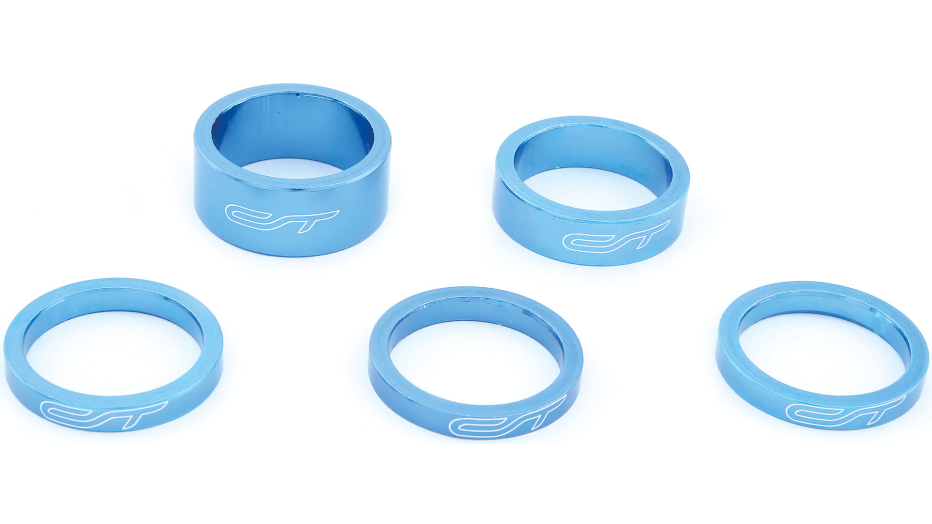 Contec Spacer Set 1 1/8 Inch 3x5/1x10/1x15mm Alu - Blauw
