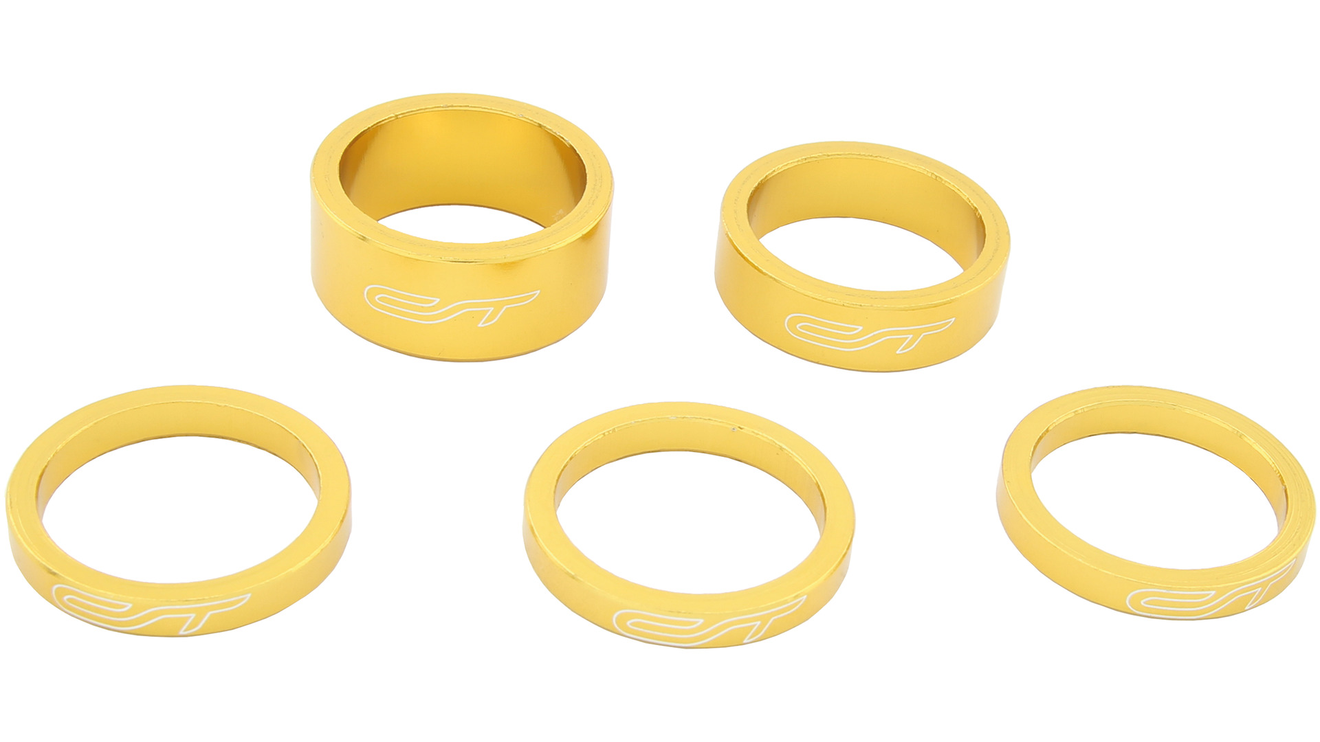 Contec Spacer Set 1 1/8 Inch 3x5/1x10/1x15mm Alu - Goud