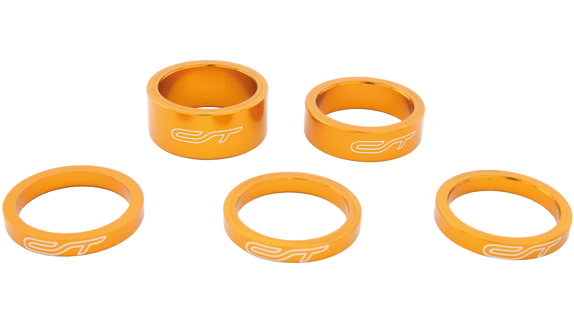 Contec Spacer Set 1 1/8 Inch 3x5/1x10/1x15mm Alu - Oranje