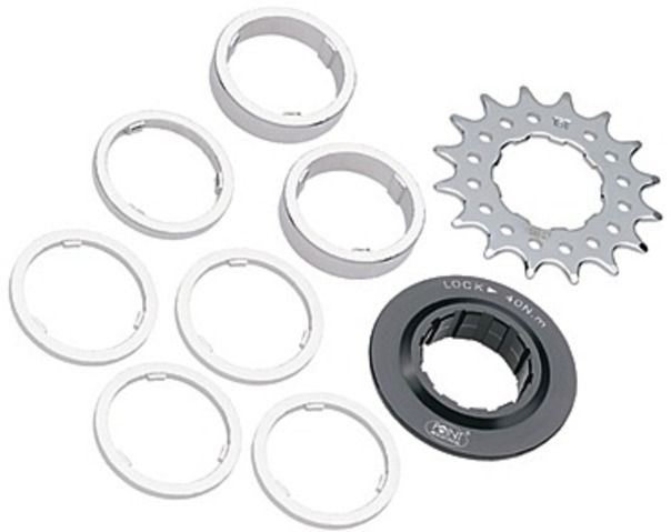 Point Single Speed Tandwiel 12T met Spacers/Sluitring