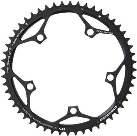 Stronglight Kettingblad CT2 52 Tands Campagnolo Zwart
