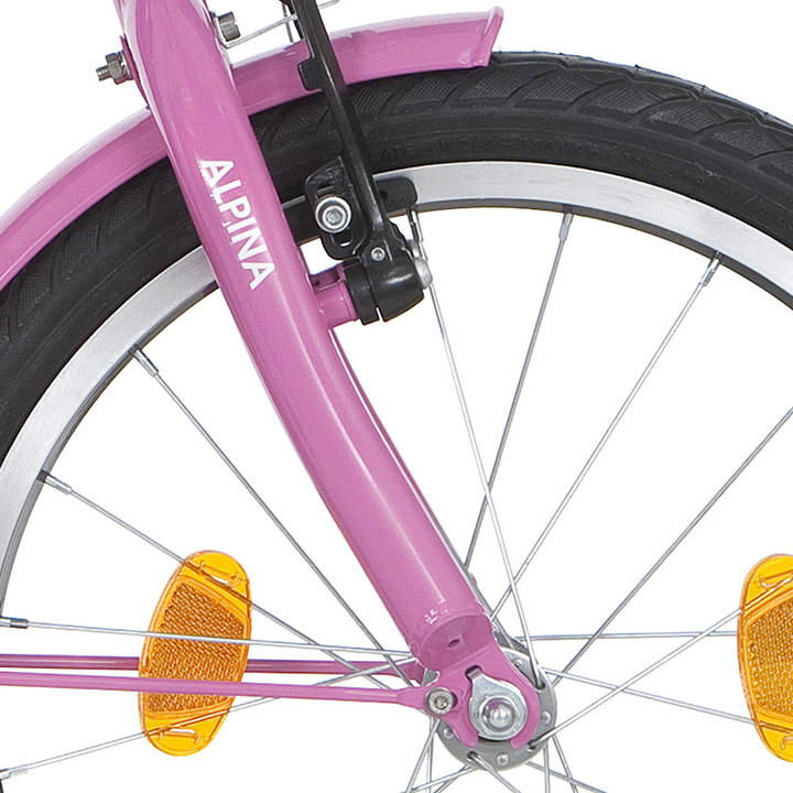 Alpina Voorvork Girlpower 18 Inch Roze