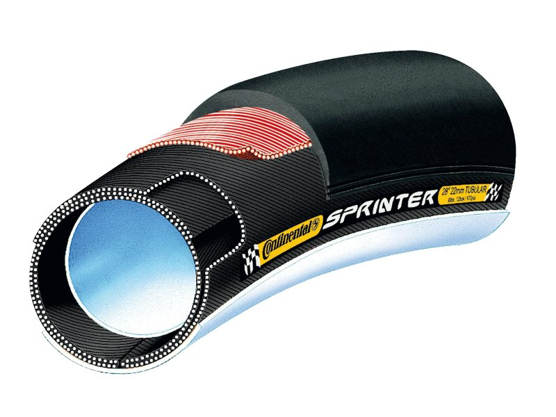 Continental Tubular 22-622 Sprinter Zwart Race
