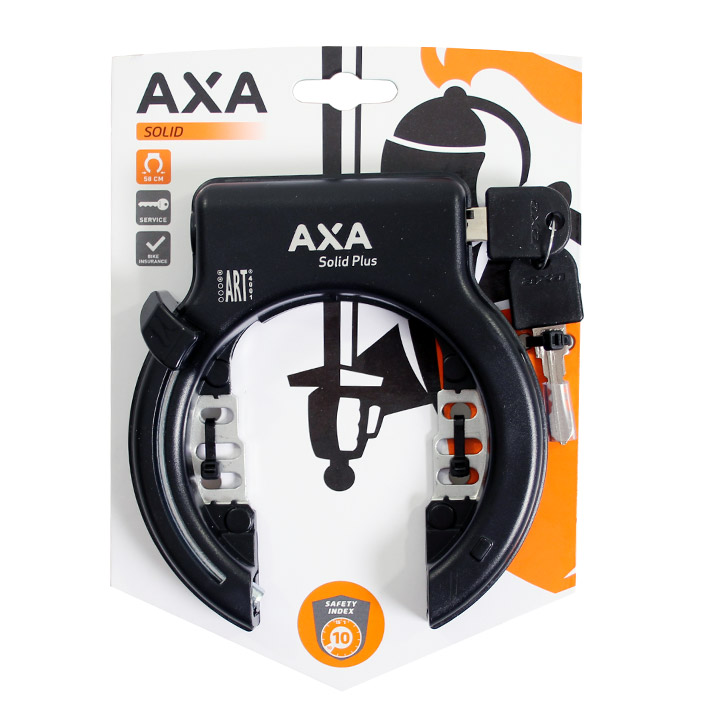 Axa Ringslot Solid XL Plus - Zwart