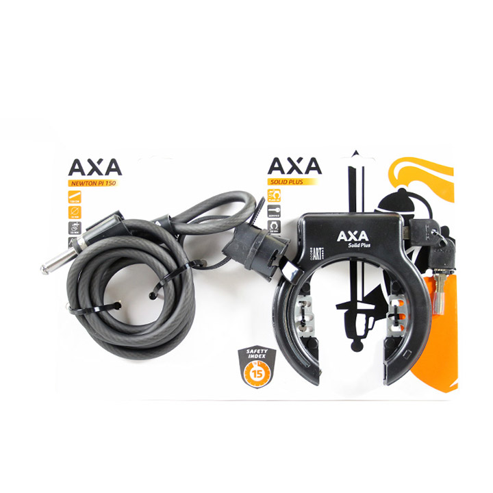 Axa Slot Set Solid Plus / Newton Insteekkabel Ø10mmx150cm