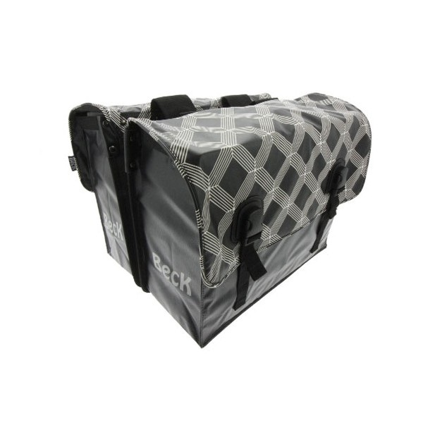 Beck Dubbele Fietstas Classic 45L - Black Diamonds