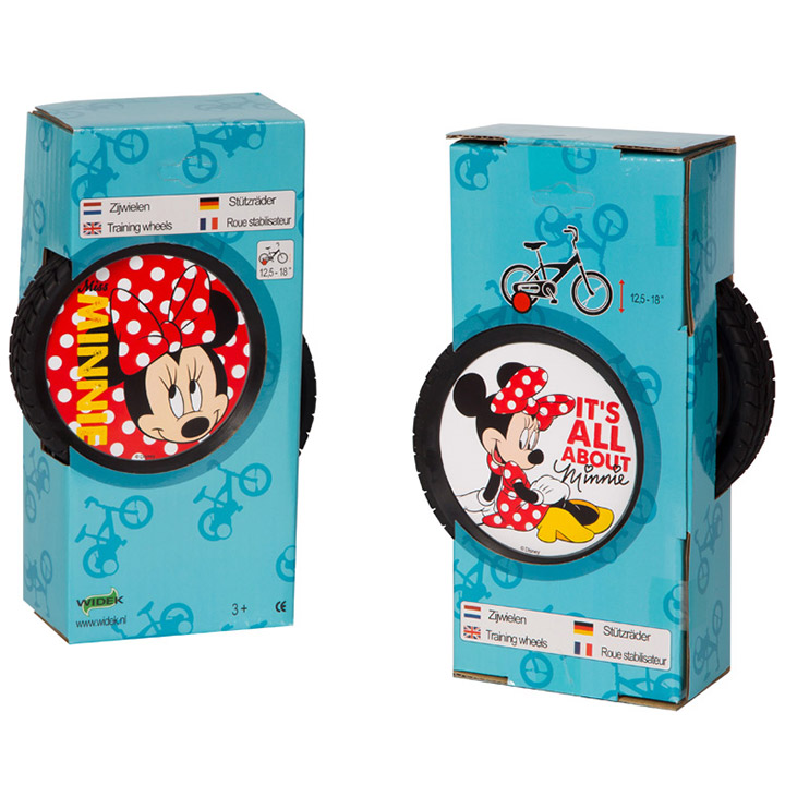 Widek Zijwielen Minnie Mouse - 12 tot 18 Inch