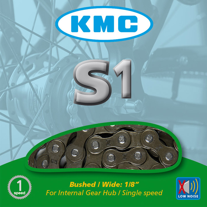 KMC S1 Ketting 1/8 Single Speed Bruin