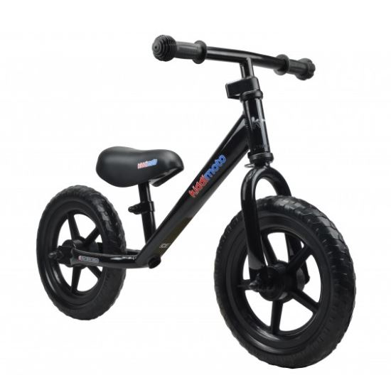 Kiddimoto Loopfiets Super Junior Zwart