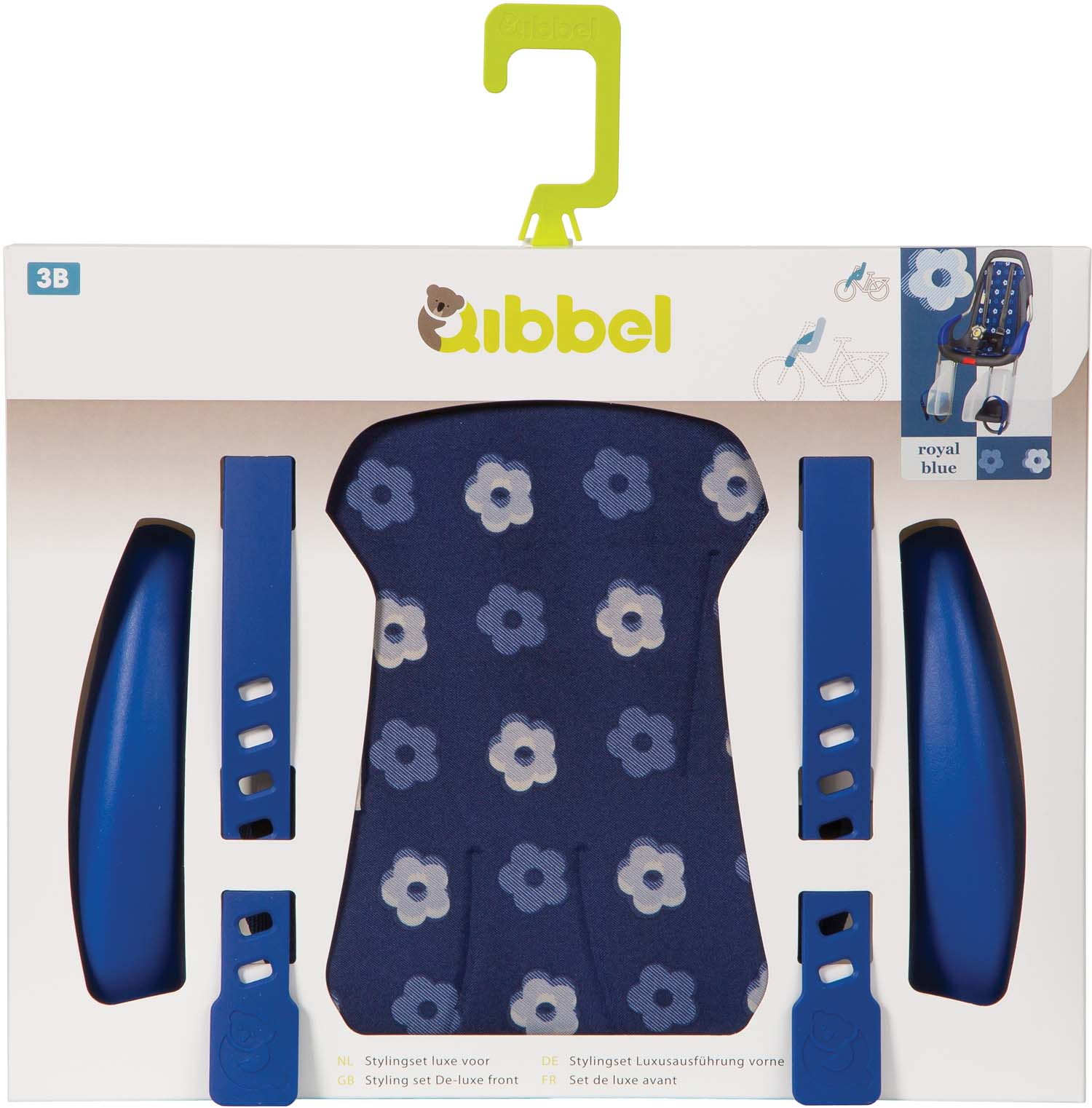 Qibbel Stylingset Luxe Royal Blauw t.b.v. Voorzitje