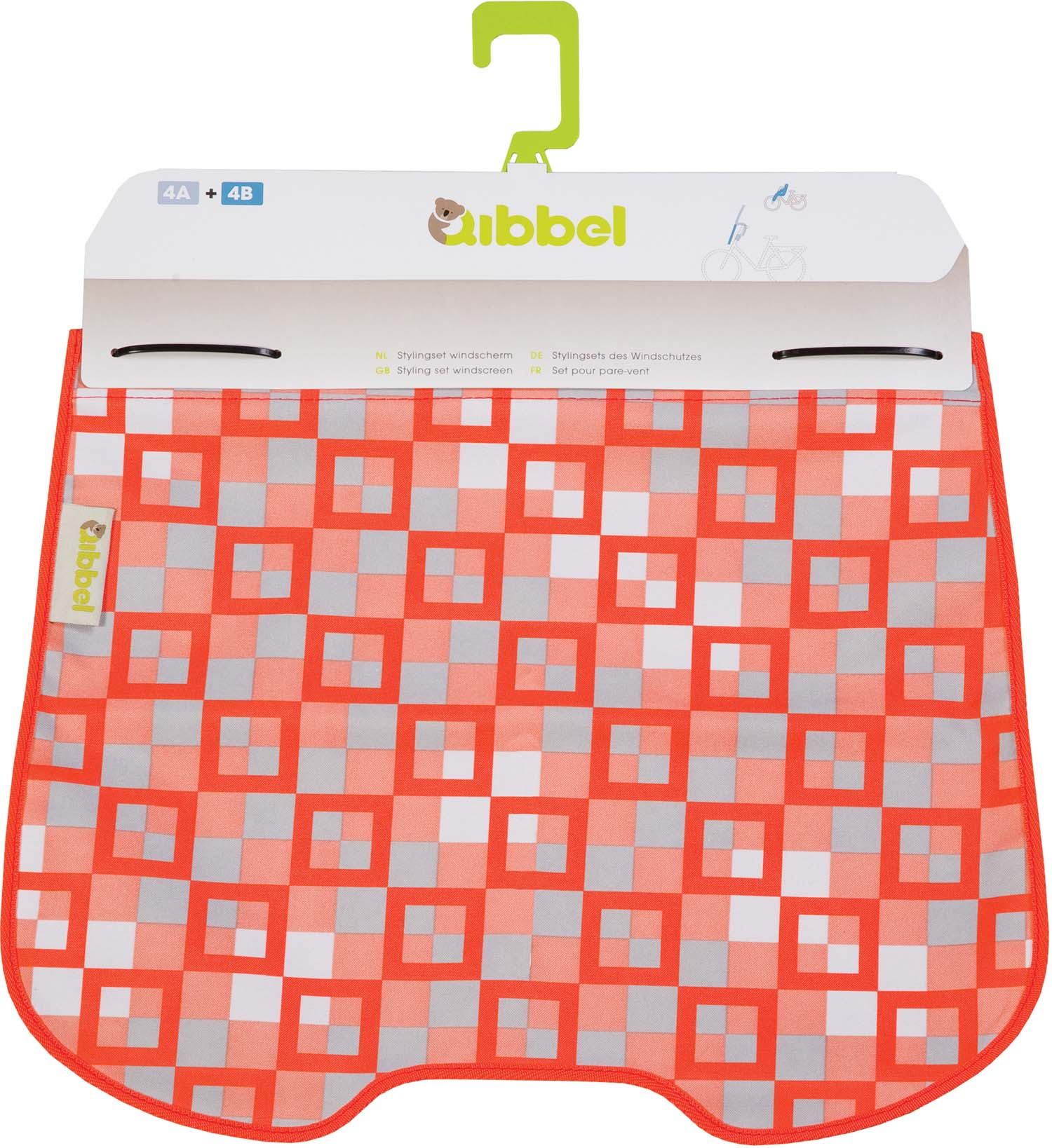 Qibbel Windschermflap Checker Rood