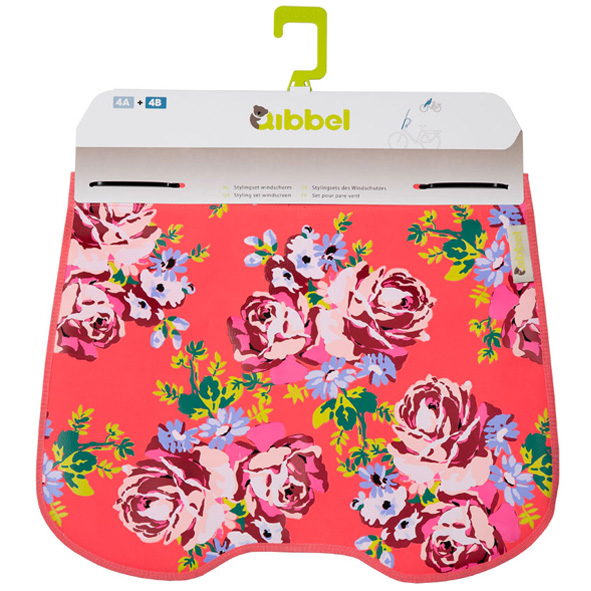 Qibbel Windschermflap Blossom Roses Coral