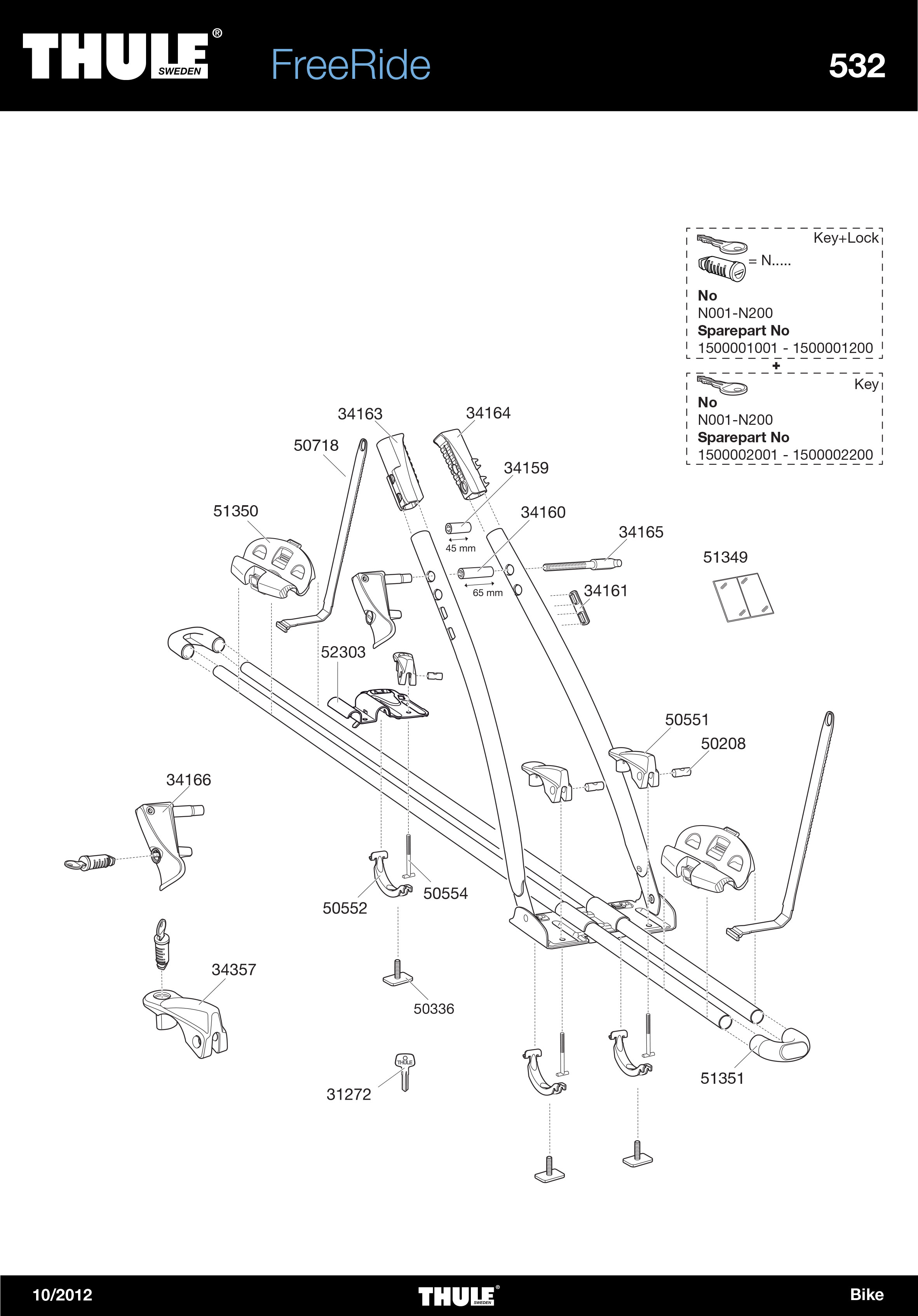 Thule Frame Support 34159 tbv FreeRide 532