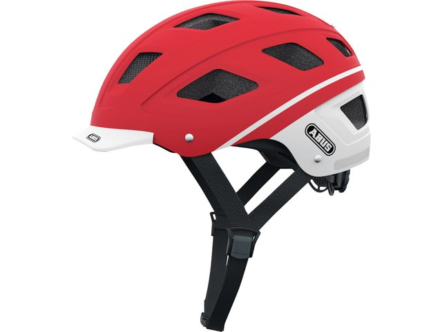 Abus Fietshelm Hyban Rood/Wit Large