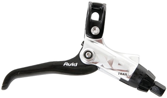 Avid Remgreep X0 Trail Carbon Gripshift Compatible - Zilver